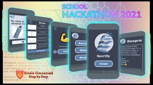 Sportify – proiectul câștigător al ediției 2021 a Step by Step School HACKATHON
